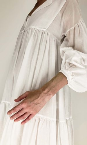 Ottod'ame Kleid mit Volants | Calamita Onlineshop