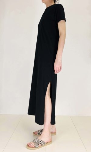 Ottod'ame Shirtkleid Basic nero | Calamita Onlineshop