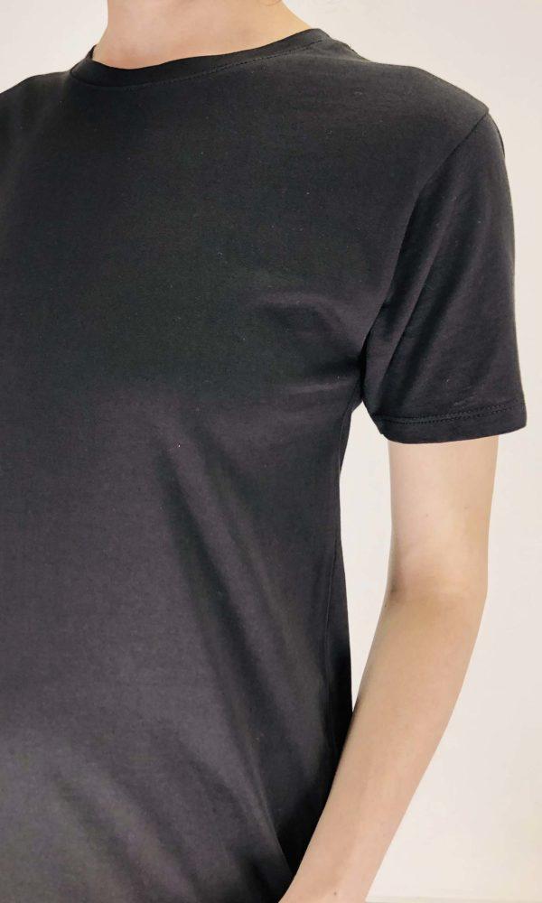 Ottod'ame Shirtkleid Basic nero   Calamita Onlineshop