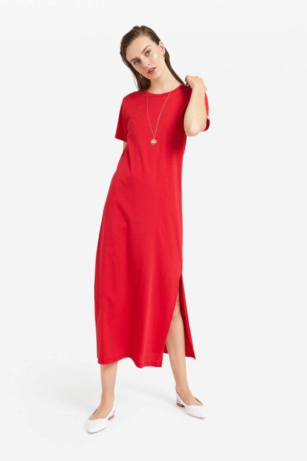 Ottod'ame Shirtkleid Basic rosso | Calamita Onlineshop