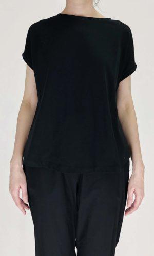 Ottod'ame T-Shirt Roundneck nero | Calamita Onlineshop