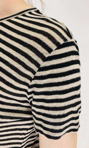 Pomandère Streifenshirt aus Leinen | Calamita Onlineshop