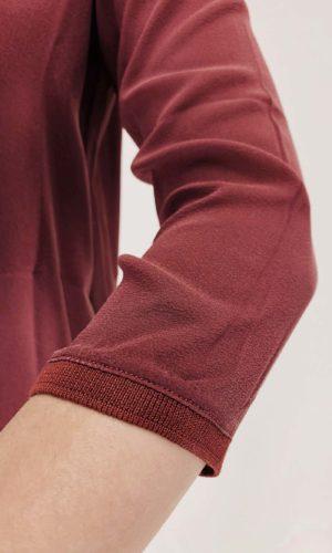 Transit Bluse Materialmix burgundy | Calamita Onlineshop