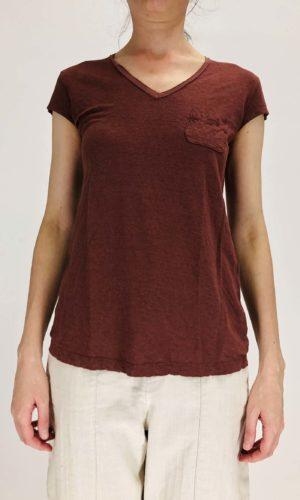 Transit Leinenshirt burgundy | Calamita Onlineshop