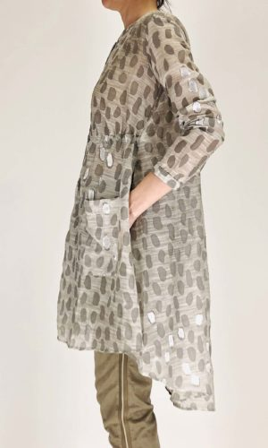 Transit Long Shirt mit Print grey | Calamita Onlineshop