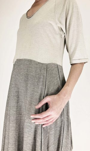Transit Kleid bicolored chalk/grey | Calamita Onlineshop
