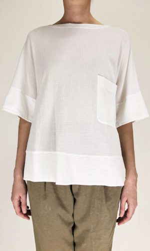 Transit oversized Shirt weiß | Calamita Onlineshop